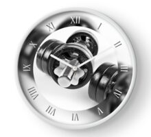 Screwed hand barbells weights Clock