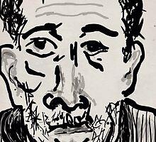 Self-portrait/(1 of 3) -(031014)- Digital artwork: Zen Brush by paulramnora