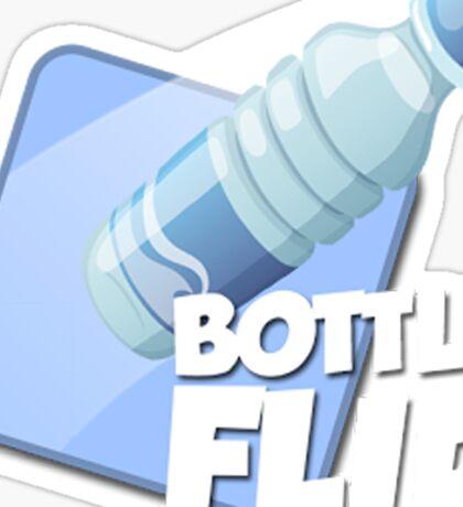 Water Bottle Flip Logo Sticker