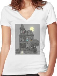 Haunted by the 80's  Women's Fitted V-Neck T-Shirt