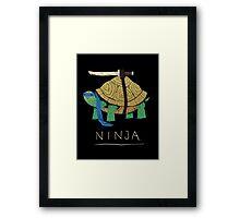 ninja - blue Framed Print