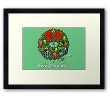 Zelda Christmas Card: Zelda themed Wreath Framed Print