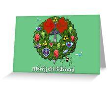 Zelda Christmas Card: Zelda themed Wreath Greeting Card