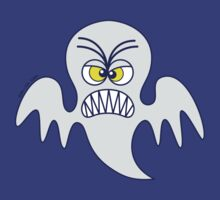 Scary Halloween Ghost Emoticon by Zoo-co