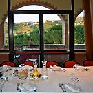 Dinner with view on the hills around Perugia by Arie Koene