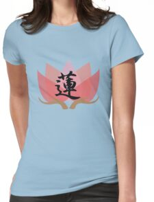 Japanese Calligraphy - 蓮 - Lotus Womens Fitted T-Shirt