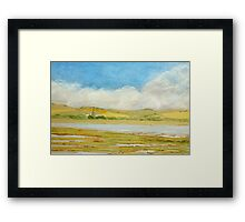Chichester Cathedral from Pagham Harbour Framed Print