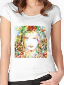 WATERCOLOR WOMAN.23 Women's Fitted Scoop T-Shirt