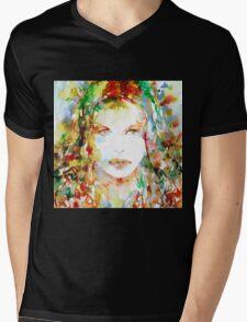 WATERCOLOR WOMAN.23 Mens V-Neck T-Shirt