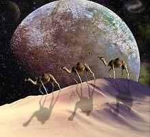 Camels on Mars by Krzyzanowski Art