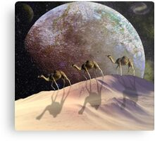 Camels on Mars Metal Print
