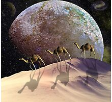 Camels on Mars Photographic Print
