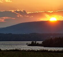 Sunset over Annapolis River by Shonda Hogan