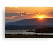 Sunset over Annapolis River Canvas Print