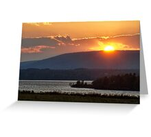 Sunset over Annapolis River Greeting Card