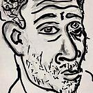 Self-portrait/(2 of 3) -(031014)- Digital artwork: Zen Brush by paulramnora