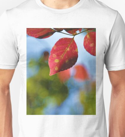 Red and Green Fall Leaves Unisex T-Shirt