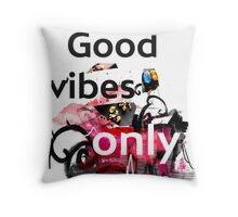 Good vibes collage  Throw Pillow