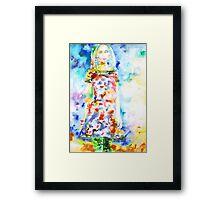 WATERCOLOR WOMAN.18 Framed Print