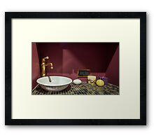 Bathroom sink Framed Print