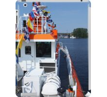 naval flags on a warship iPad Case/Skin