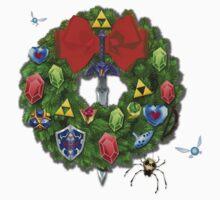 Zelda Christmas Card: Zelda themed Wreath Kids Clothes