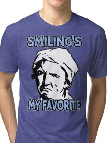 Ironic Smiling is my Favorite Tri-blend T-Shirt