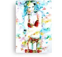 WATERCOLOR WOMAN.17 Canvas Print