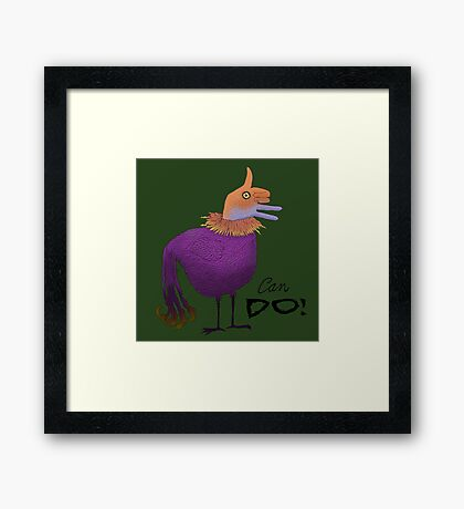 Can Do Thumbs Up Bird Framed Print