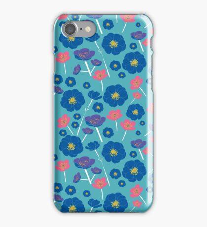 Bright Blue Buttercups iPhone Case/Skin