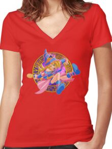 Toon Dark Magician Girl Women's Fitted V-Neck T-Shirt