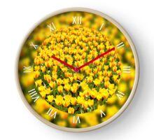 Yellow red Stresa tulips blooming Clock