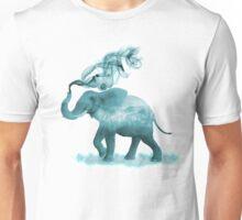 Turquoise Smoky Clouded Elephant Unisex T-Shirt