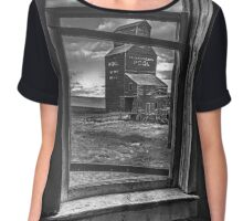View from the General Store - BW Chiffon Top