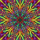 Crazy colors 3D mandala by Natalia Bykova