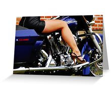 Her Mans Ride Greeting Card