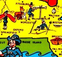 Massachusetts State Map Vintage Travel Decal Sticker