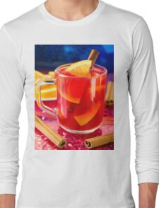 Transparent mug with citrus mulled wine Long Sleeve T-Shirt