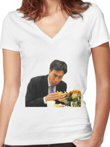 Ed Miliband Women's Fitted V-Neck T-Shirt