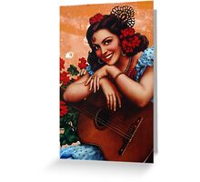 Bullet holes Mexican style Greeting Card