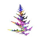 Fractal - Colorful Christmas Tree by Susan Savad