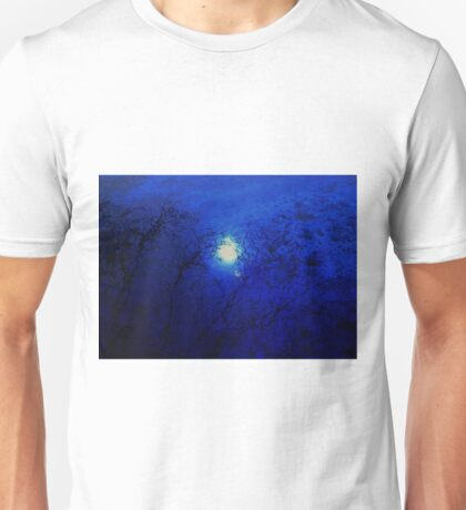 Staring at the loss...looking for the cause...and never really sure....nothing but a hole....to live without a soul....and nothing to be learned.....Shadow on the sun Unisex T-Shirt