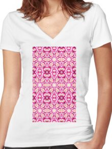 Blossoming light-web design Women's Fitted V-Neck T-Shirt