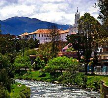 Rio Tomebamba, Puente Roto, Todos Santos, Cuenca, Ecuador by Al Bourassa