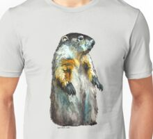 Winter Woodchuck (aka Groundhog) Unisex T-Shirt