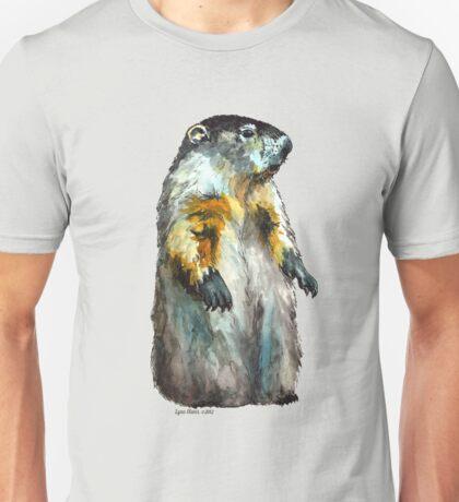 Winter Woodchuck (aka Groundhog) Unisex T-Shirt