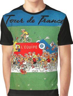 TOUR DE FRANCE; Comic Spoof Print Graphic T-Shirt