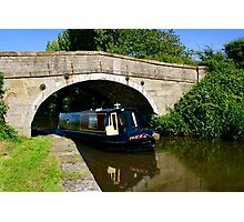Narrowboat on the canal Photographic Print