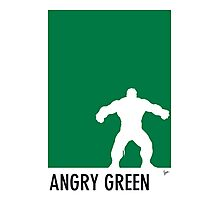 My Superhero 01 Angry Green Minimal poster Photographic Print
