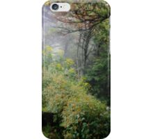 Wildflowers and fog iPhone Case/Skin